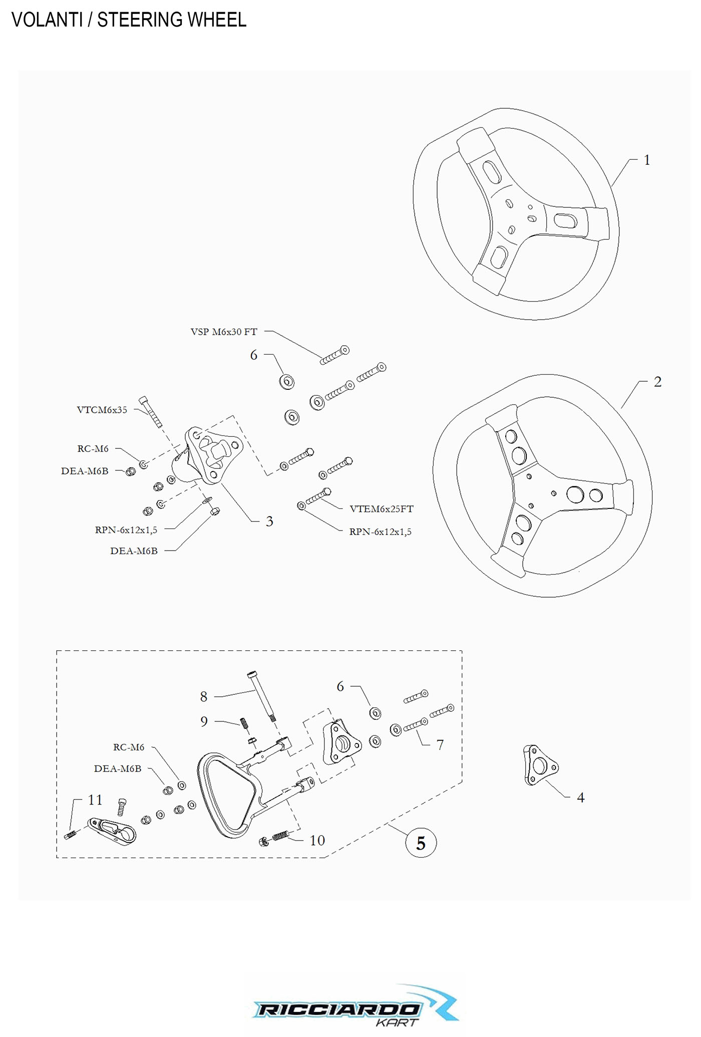 Steering Wheel Parts Diagram  U2013 Ricciardo Kart